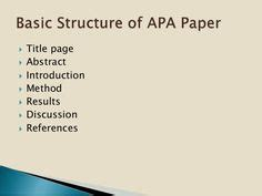 A sample research paper apa style